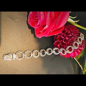 Antique Art Deco sterling marcasite bracelet 925